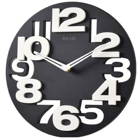 Novelty hollow out 3d big digits kitchen home office decor round shaped wall clock art clock - Orologi da cucina thun ...