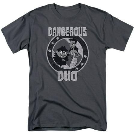 ROCKY & BULLWINKLE/DANGEROUS-S/S ADULT 18/1-CHARCOAL-2X