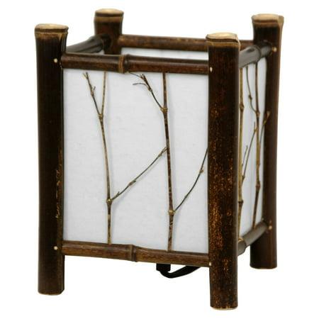 Watashi Japanese Table Lamp, Dark