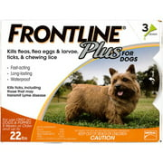 Frontline Plus Flea and Tick Control for Small Dogs 8 weeks or older and Up to 22 lbs., 3ct