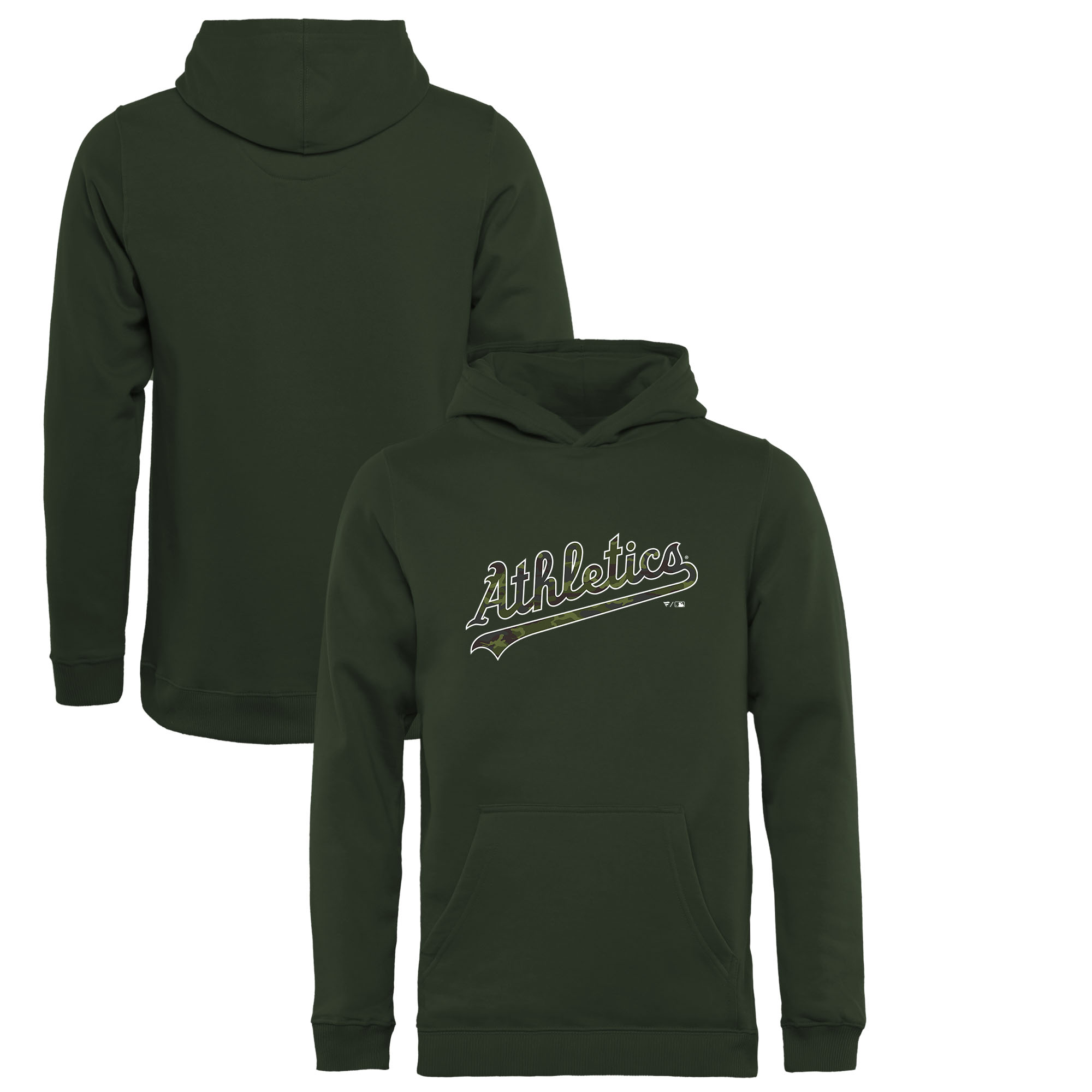 Oakland Athletics Fanatics Branded Youth Memorial Wordmark Pullover Hoodie - Green