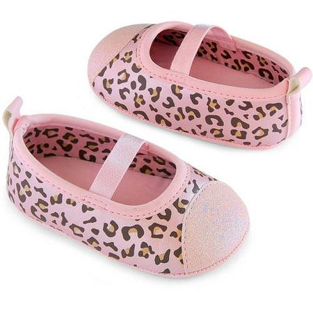 Image of Child of Mine by Carter's Newborn Baby Girls Cheetah Maryjane Shoes, 0-6M