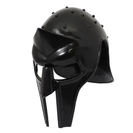 Urban Designs Antique Replica Full-Size Metal Gladiator Armor Arena Helmet - Black - Metal Replica Helmet