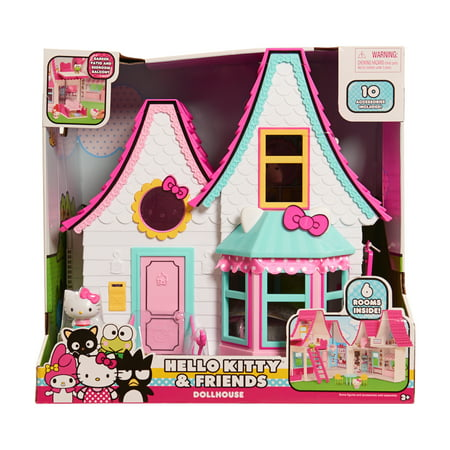 Hello Kitty Dollhouse With 10 Play Accessories