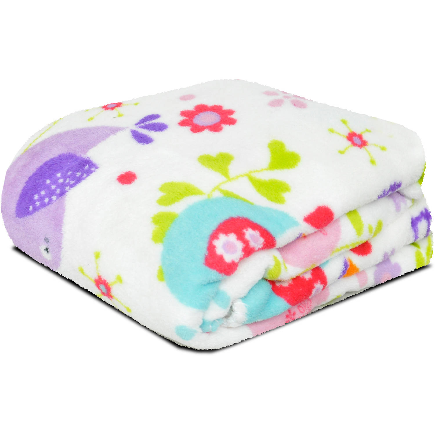 Mainstays Kids Love Doves Plush Throw