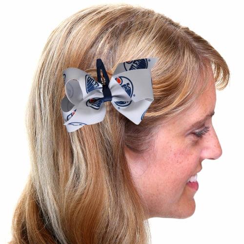 Edmonton Oilers Women's Team Logo Hair Bow - No Size