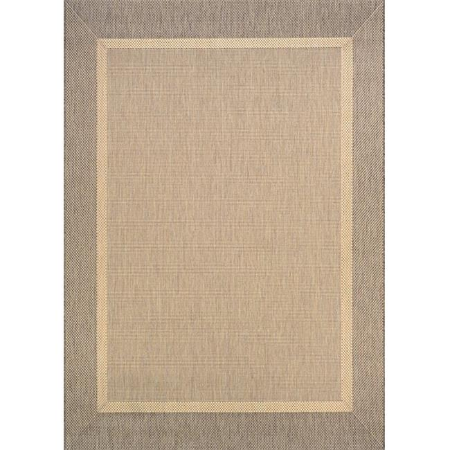 Couristan 55260712023119U 2 ft. 3 in. x 11 ft. 9 in. Recife Stria Texture Rug, Natural & Coffee - image 1 of 1