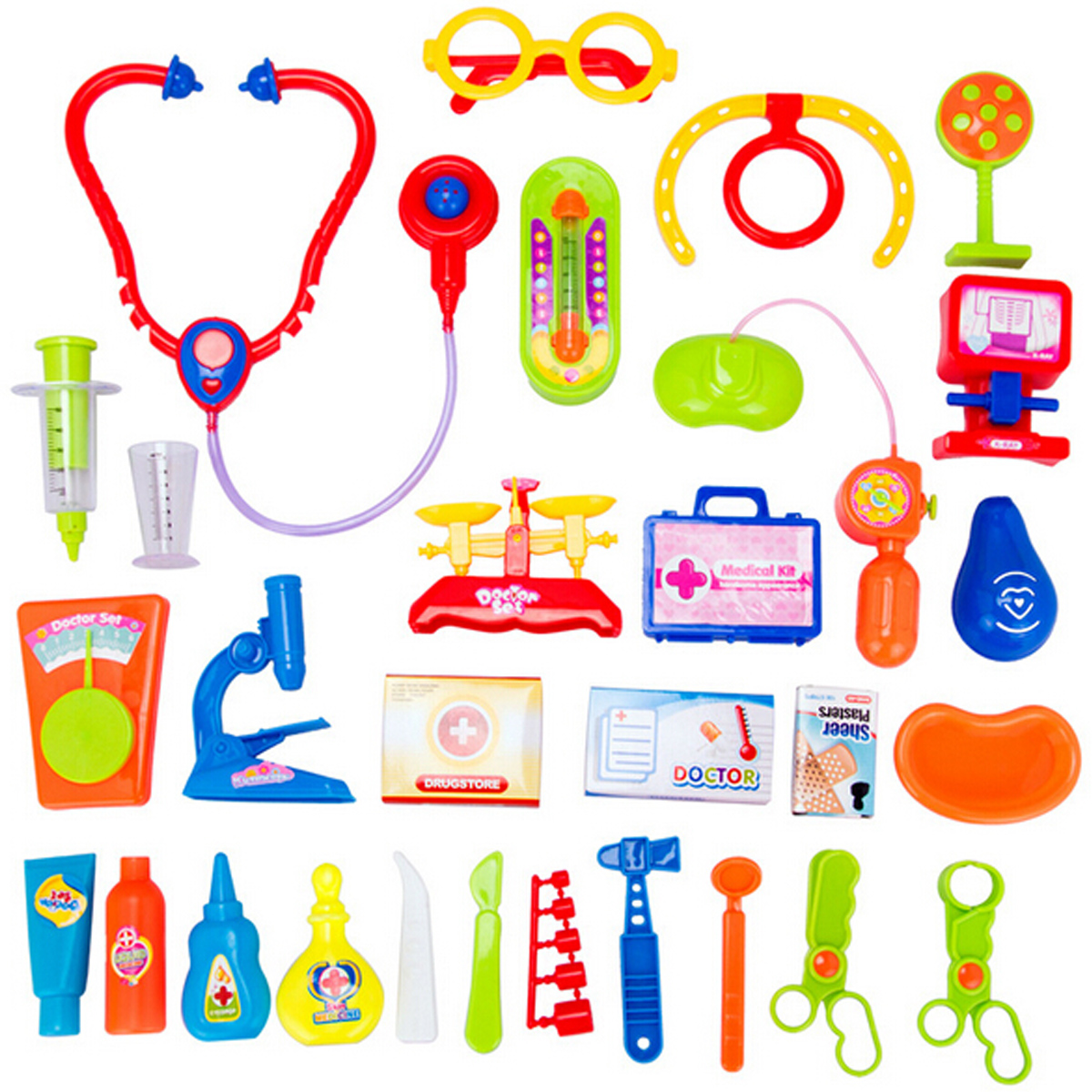 30Pcs Baby Kids Doctor Medical Playset Carry Case Kit Education Role Play Toys Suitable for boys and girls