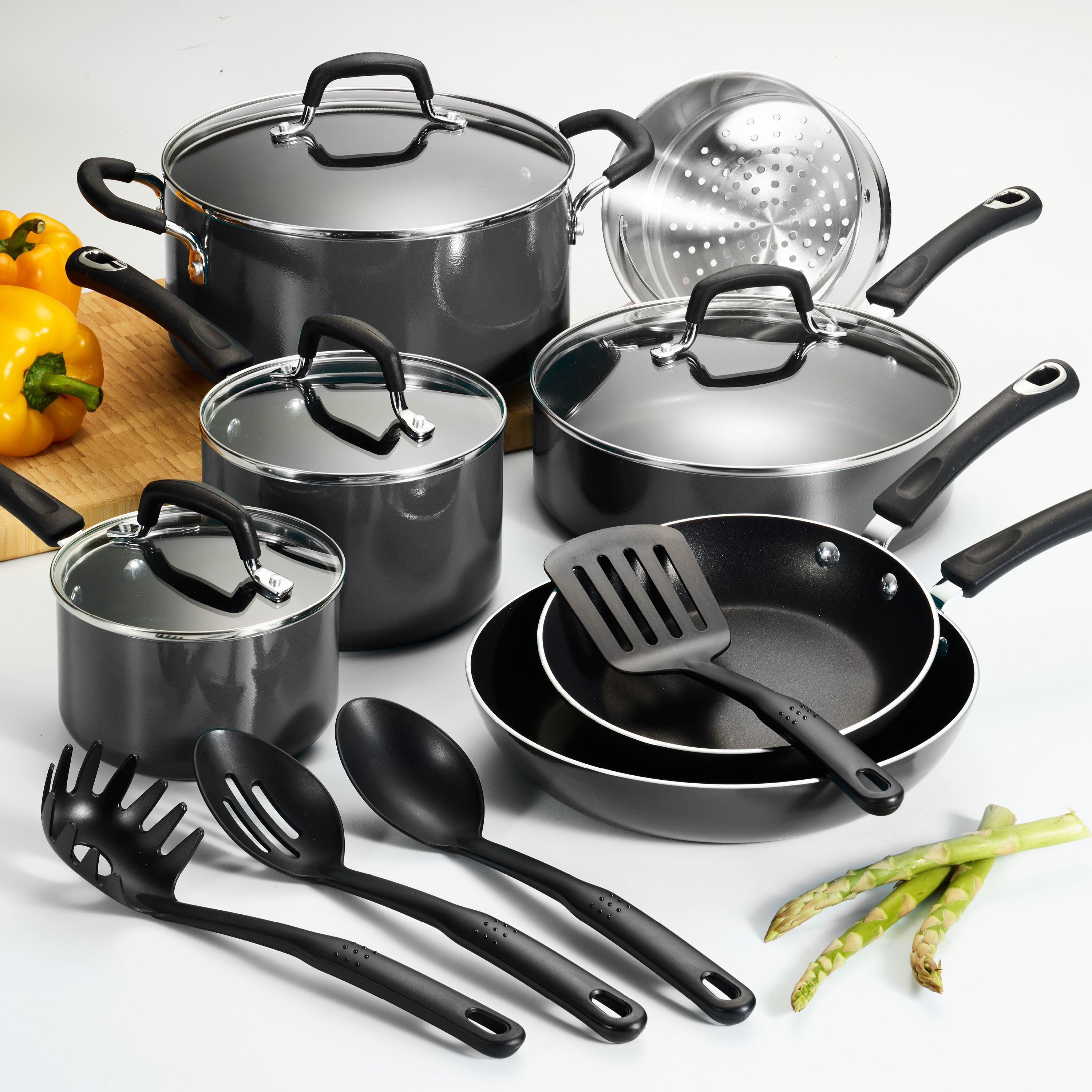 Tramontina 15 Pc Select Gray Nonstick Cookware Set