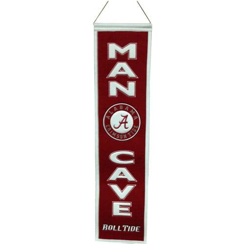 NCAA Man Cave Banner, University of Alabama Crimson Tide