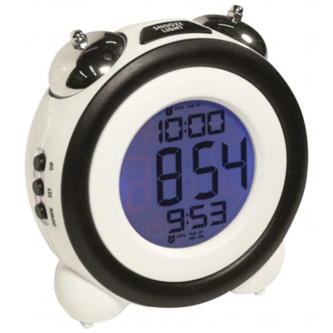 Sonnet T-4689 Atomic LCD Mechanical Bell Alarm Clock