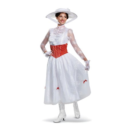 Mary Poppins Deluxe Adult Halloween Costume](Halloween Mary Bu)