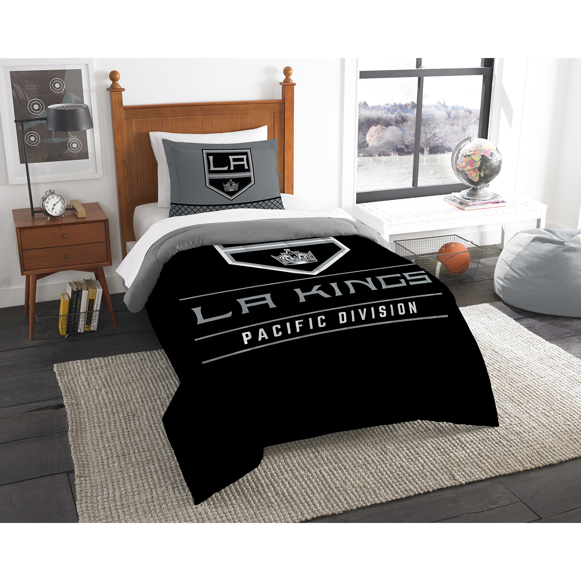 Los Angeles Kings The Northwest Company NHL Draft Twin Comforter Set