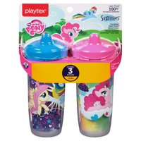 Playtex Sipsters Stage 3 My Little Pony Insulated Sippy Cup, 9 oz, 2 pk