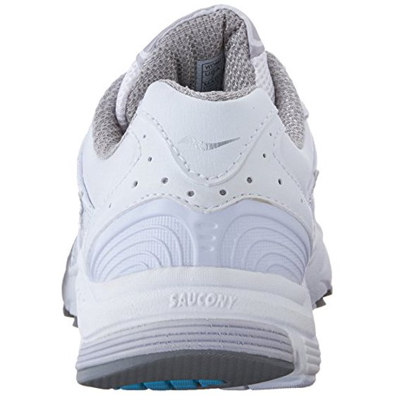 0df767ab ... comfortable and plush shoe that makes walking for hours at a time  effortless. Saucony Women's ProGrid Integrity ST2 Walking Shoe,  White/Silver, 9 B US