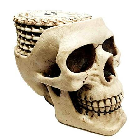 Haunted Skull Drink Coaster Set With 6 Skeleton Coasters