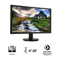 "Acer 20"" 1366x768 DVI VGA 60Hz 5ms LED Monitor - K202HQL"