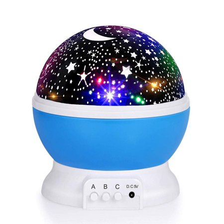Romantic Sky Projector LED Star Master Colorful Starry Night Cosmos Projector Bed Side Lamp(sky Blue) Master Lamp Memory System