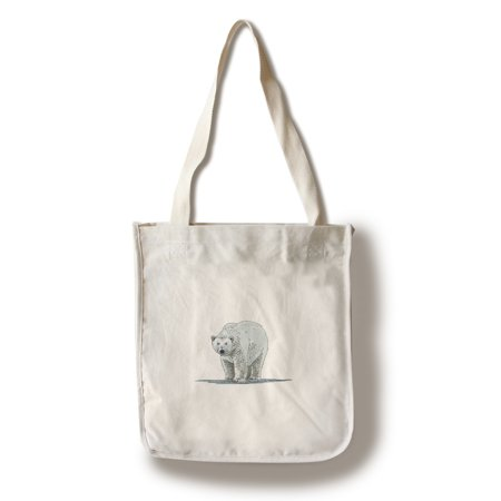 Polar Bear - Icon - Lantern Press Artwork (100% Cotton Tote Bag - Reusable)