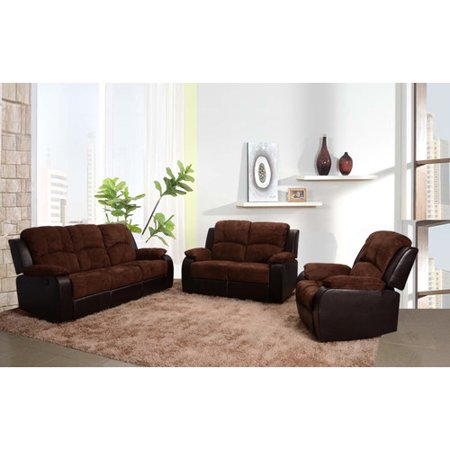 beverly fine furniture pamela 3 piece microfiber reclining living room