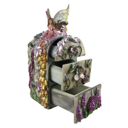 3 Drawer Dream Flower Fairy Trinket / Jewelry Box - image 1 of 4