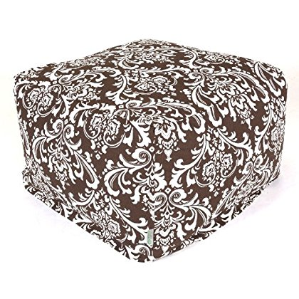 Majestic Home Goods Chocolate and White French Quarter Ottoman, Large