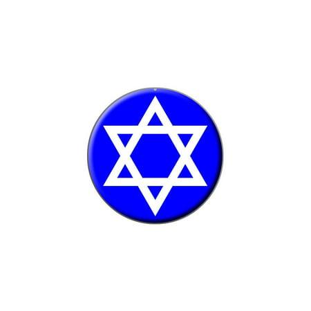 Star of David - Shield Jewish Lapel Hat Pin Tie Tack Small Round