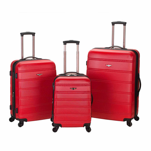 Rockland Luggage Melbourne 3-Piece ABS Spinner Luggage Set