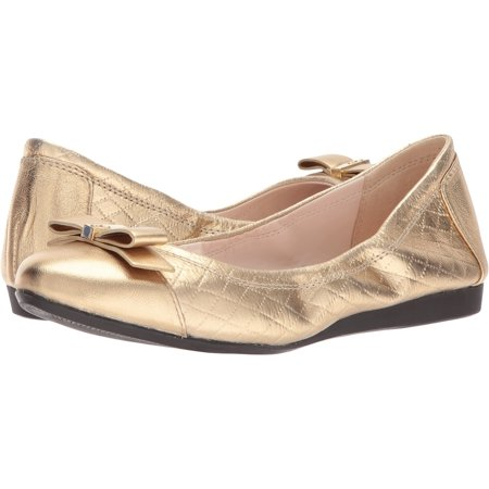 1daa2d8f1 Cole Haan - Cole Haan Women's Elsie Ballet II Antique Gold Metallic Quilted  Print 7.5 B US - Walmart.com
