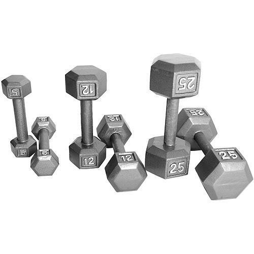 CAP Barbell Cast Iron Hex Dumbbell, Single