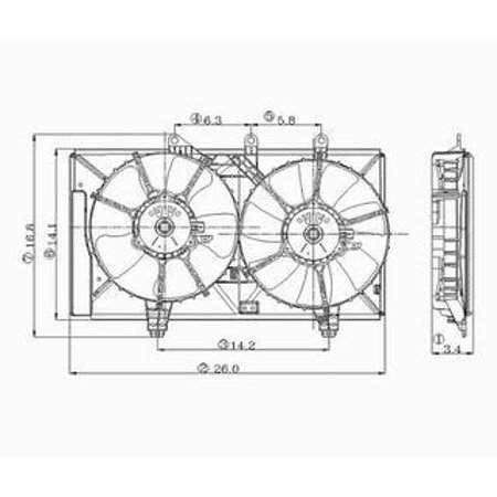 TYC 620830 for Dodge Neon Replacement Radiator/condenser Cooling Fan Asse ()