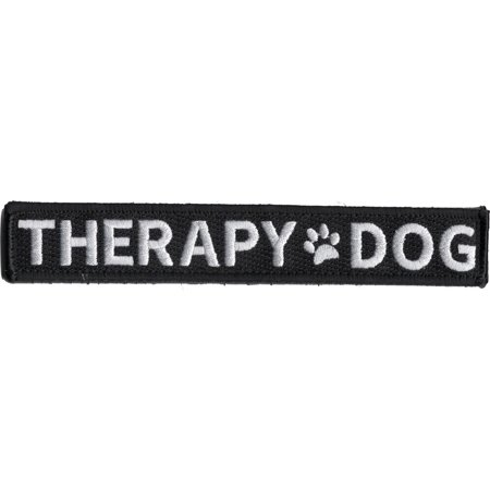 THERAPY DOG W/ PAW PRINT PATCH HOOK AND LOOP BACK VEST SERVICE COMFORT ANIMAL Therapy Dog Vest