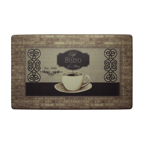 Chef Gear Café Bistro with Border Anti-Fatigue Gelness Comfort Chef Mat