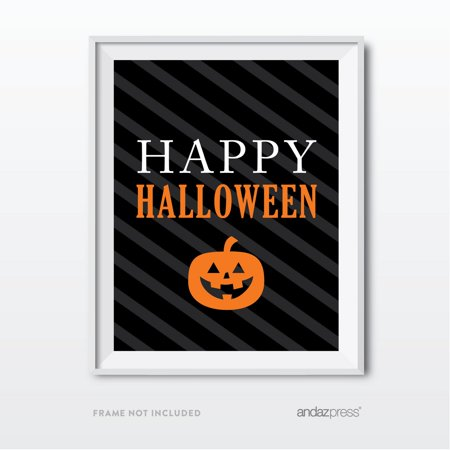 Happy Halloween Black & Orange Classic Halloween Party Signs - Orange County Halloween Party 2017