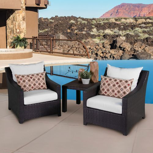 RST Brands Deco Club Chairs and Side Table Bliss Blue with Sunbrella Deco Bistro