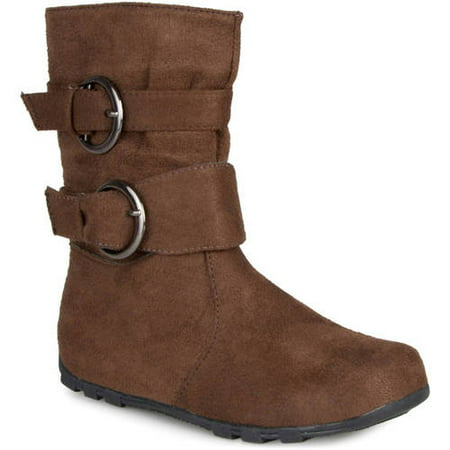 Brinley Co. Girls Buckle Accent Mid-calf Boots](Go Go Boots For Girls)