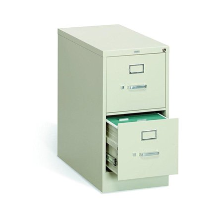 Suspension Filing Trolley - HON 2-Drawer Vertical Filing Cabinet - 310 Series Full-Suspension Letter File Cabinet, Putty (H312)