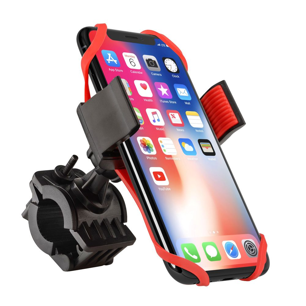 """Insten Bike Bicycle Motorcycle Universal Phone Holder with Secure Grip & 360 Adjustable Ball Head Ram Mount (Width: 2.16"""" - 3.15"""") for all iPhone 7 SE 6s Plus 6 5s Samsung LG HTC Smartphone GPS Device - image 3 de 3"""