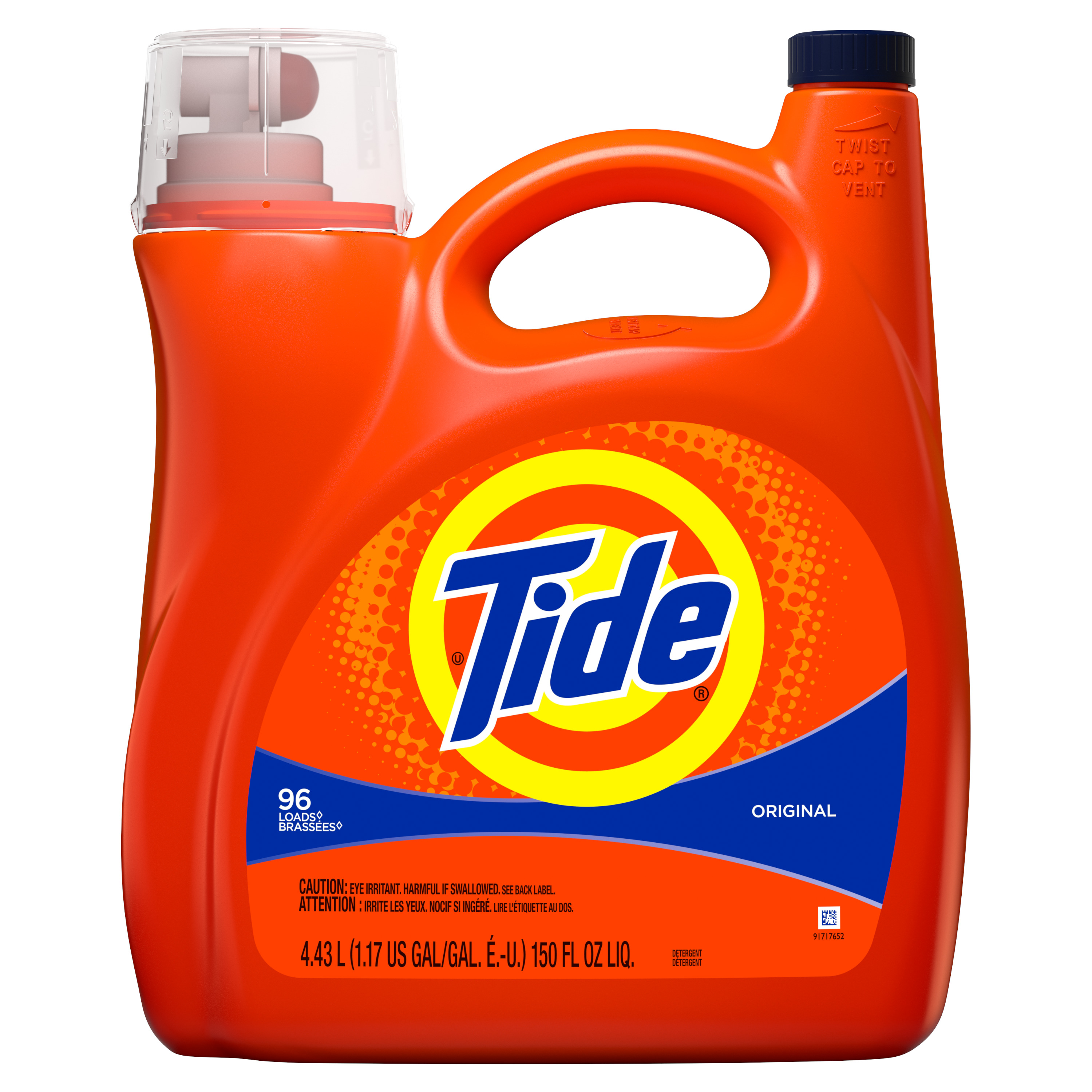 Tide Liquid Laundry Detergent, Original, 96 Loads 150 fl oz