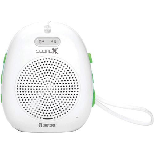 Singing Machine SMI436BT Portable Splash-Proof Bluetooth Speaker, White