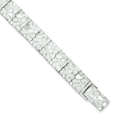 925 Sterling Silver Nugget Bracelet 8 5 5in X 12mm