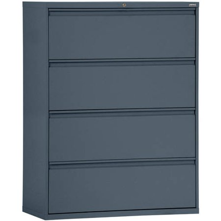 Sandusky Lee 800 Series 30″ 4-Drawer Full Pull Lateral File, Charcoal