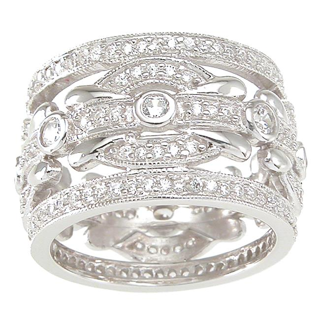 Plutus kkr6752c 925 Sterling Silver Wedding Band Size 8