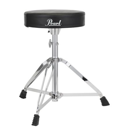 Double Braced Tripod Drum Throne - Pearl D50 Throne, Round Cushion - Double-Braced Legs