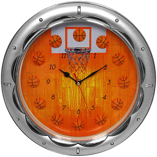 "Trademark 13"" Basketball Wall Clock, Quartz Movement"