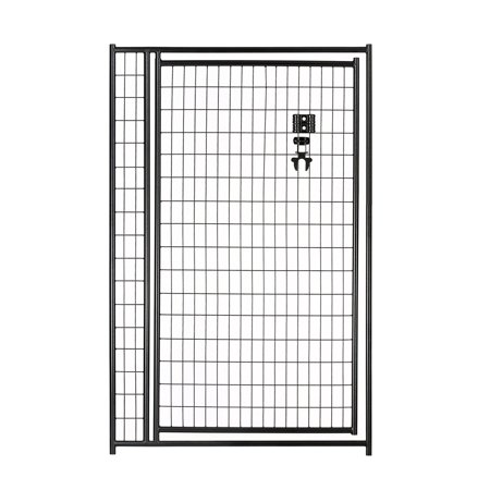 Lucky Dog 4W x 6H ft. Black Welded Wire Gate - 36 in. Opening Black Diamond Oval Wire Gate