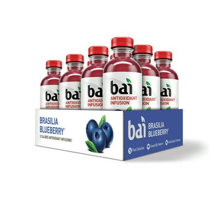 Bai Antioxidant Infused Beverage, Brasilia Blueberry, 18 Fl Oz, 12 - Blueberry Infused Vodka