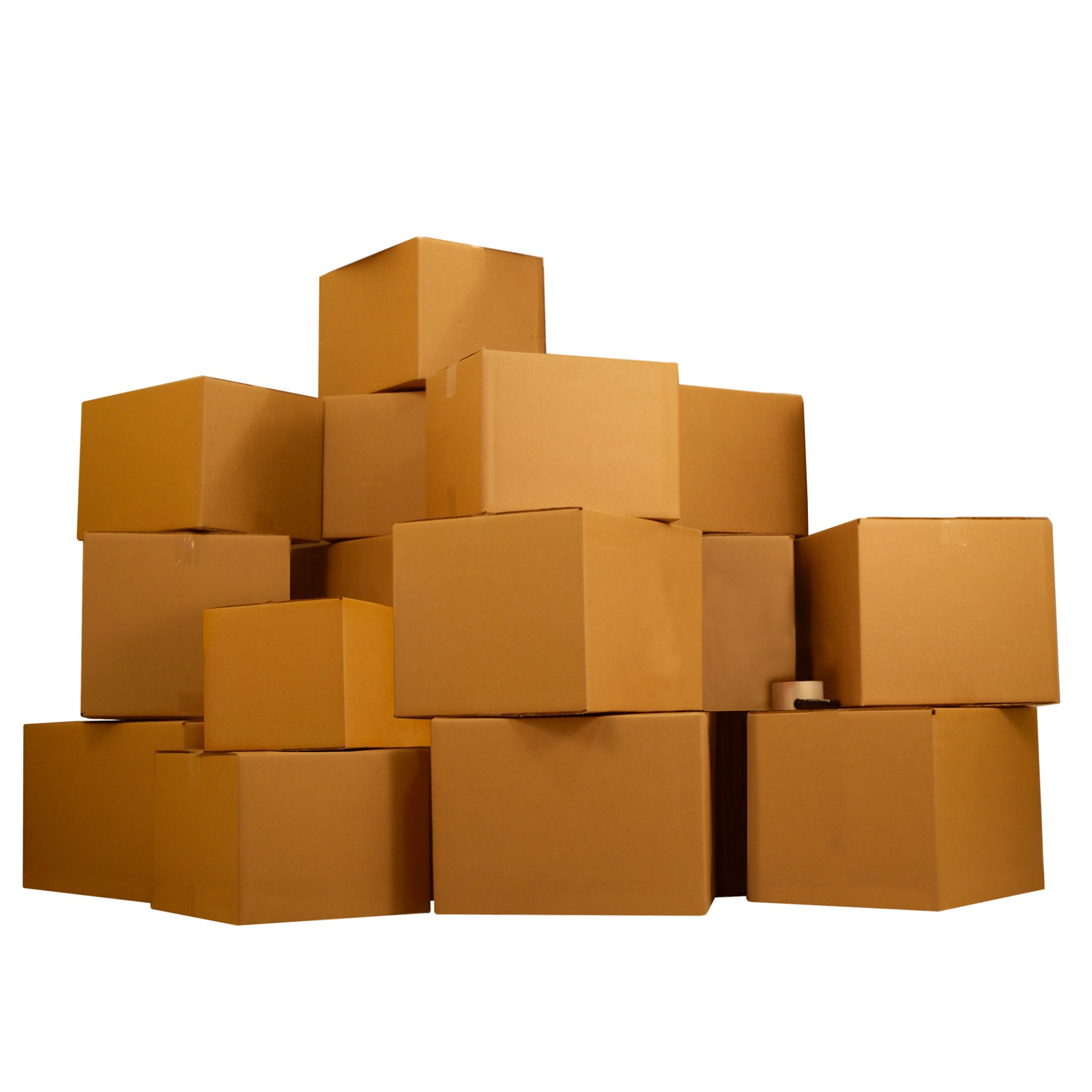 Uboxes 3 Room Economy Moving Kit, 40 Boxes, 220yd Tape, 2 Markers