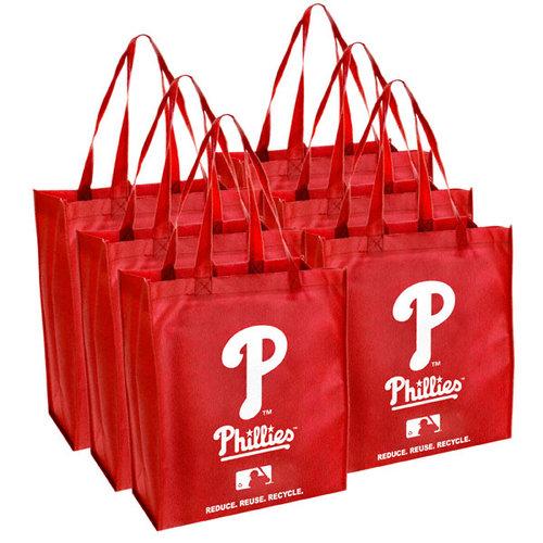 MLB - Philadelphia Phillies Reusable Bag 6 Pack
