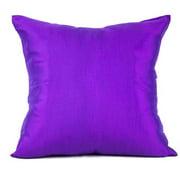 DecorFreak Silk Purple Throw Pillow Cover